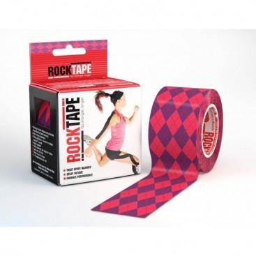 Classic RockTape (5cm x 5m) Pink Argyle
